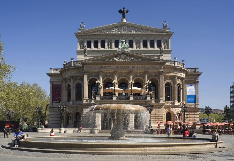Altes Opernhaus in Frankfurt am Main, Hessen, Deutschland