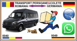 Transportul de persoane si colete din Germania