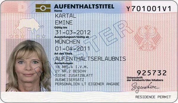 Permisul de rezidenta in Germania