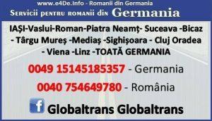 Cine are nevoie de transport din Gemania in Romania