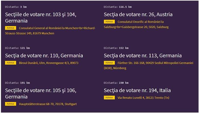 Secții de votare în Germania